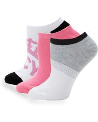Juicy Couture 3-pack Classic Ankle Socks - White
