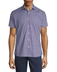 Bertigo - Printed Cotton Button-down Shirt - Lyst