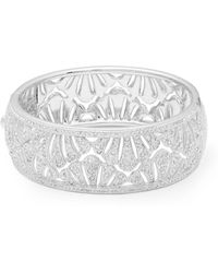 Adriana Orsini Pavé Shell Bangle Bracelet - Metallic
