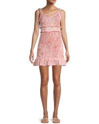 BCBGeneration Woven Smocked Dress - Pink