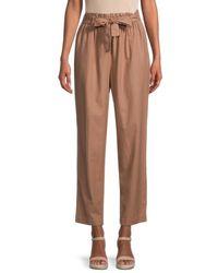 Calvin Klein High-waisted Straight Leg Pant - Brown