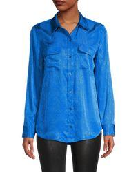 Equipment Slim-fit Long-sleeve Shirt - Blue