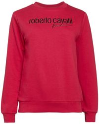 Roberto Cavalli Logo Sweatshirt - Red