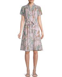 Nanette Lepore Floral-print Tie Dress - Pink