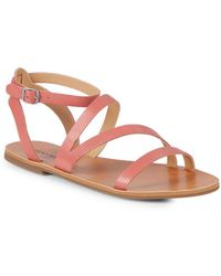 Lucky Brand - Andies Ankle-strap Leather Sandals - Lyst