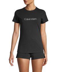 Calvin Klein 2-piece Logo Stretch Pyjama Set - Grey