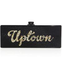 Edie Parker Flavia Uptown/downtown Acrylic Clutch - Black