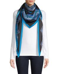 Missoni Triangle Wave-print Silk Scarf - Blue