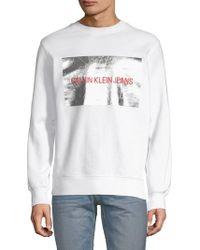 Calvin Klein - Logo Patch Sweatshirt - Lyst
