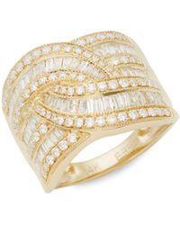 Effy 14k Yellow Gold & White Diamond Ring - Multicolour