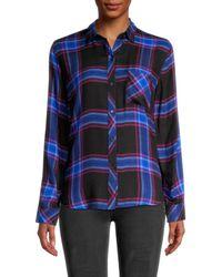 Rails Women's Hunter Plaid Shirt - Navy Cobalt - Size Xs - Blue