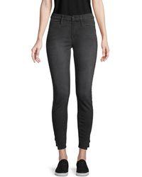 FRAME Women's Le Skinny Side-split Coated Jeans - Black - Size 24 (0)