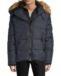 S13/nyc - Faux Fur Trimmed Quilted Down Jacket - Lyst