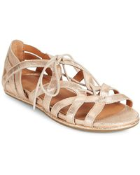 Gentle Souls - Oona Lace-up Leather Sandals - Lyst