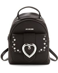 Love Moschino - Studded Heart Buckle Backpack - Lyst