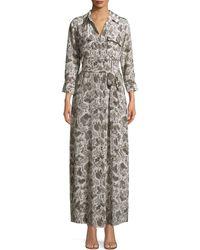 L'Agence Cameron Snakeskin-print Dress - Multicolour