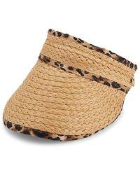 Vince Camuto Women's Woven Straw Visor - Tan - Multicolor