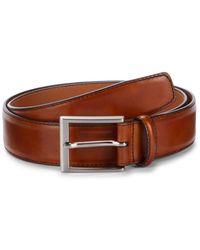 Magnanni Men's Cruzar Leather Belt - Caramel - Size 36 - Multicolour