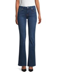 7 For All Mankind A Pocket Mid-rise Flare Jeans - Blue