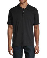 Robert Graham Men's Short-sleeve Cotton Polo - Black - Size S