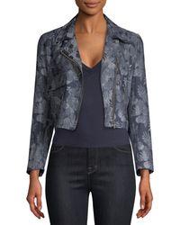 VEDA Cayman Floral Jacket - Blue