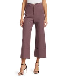 Sea Lennox Cuffed Trousers - Purple