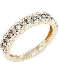 Le Vian Chocolatier®14k Honey Goldtm, Chocolate Diamonds® & Vanilla Diamonds® Ring - Multicolour