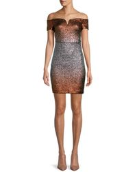 Guess Metallic Mini Bodycon Dress