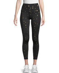 Chrldr High-waist Allover Star Leggings - Black