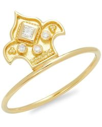 Amrapali Women's 18k Yellow Gold & Diamond Ring/size 7 - Size 7 - Metallic