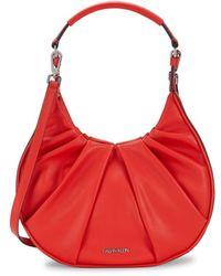 Calvin Klein Small Myla Pleated Hobo Bag - Black