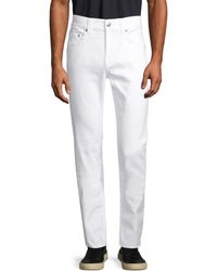 True Religion Men's Classic Buttoned Skinny Jeans - Optic White - Size 34