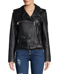 Sam Edelman Leather Moto Jacket - Black