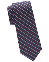 Saks Fifth Avenue - Two-tone Windowpane Check Silk Tie - Lyst