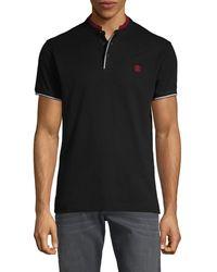 Roberto Cavalli Short-sleeve Cotton Polo - Black
