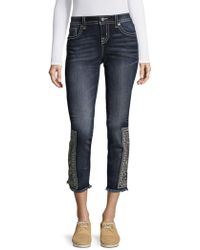 Miss Me - Faded Out Aztec Skinny Jeans - Lyst