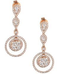 Le Vian 14k Strawberry Gold® & Vanilla Diamonds® Drop Earrings - Metallic