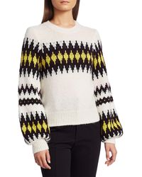 A.L.C. Badgely Fairisle Alpaca-blend Pullover - Black