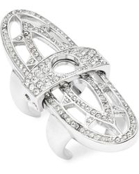 CC SKYE - Renaissance Crystal Studded Ring - Lyst