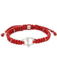 Tateossian Braided Bolo Bracelet - White