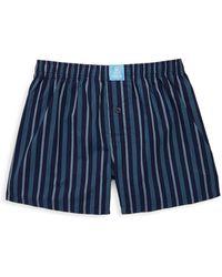 Psycho Bunny - Striped Cotton Boxer Shorts - Lyst