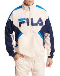 Fila Norbert Half Zip Pullover - Blue