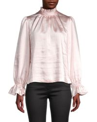 Cynthia Rowley Women's Ezra Bell-sleeve Blouse - Light Pink - Size 4