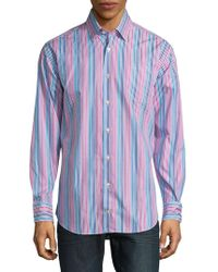Robert Talbott - Anders Casual Striped Cotton Sportshirt - Lyst