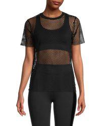 Alala Women's Island Mesh T-shirt - Black - Size S