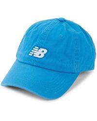 New Balance Logo Cotton Baseball Cap - Blue