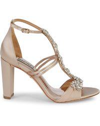 Badgley Mischka Laney Satin & Crystal Sandals - Multicolour