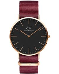 Daniel Wellington Classic Roselyn Rose Goldtone Stainless Steel Textile-strap Watch - Pink