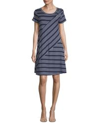 Spense - Striped Shift Dress - Lyst