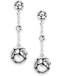 John Hardy Kali Sterling Silver Chain Drop Earrings - Metallic